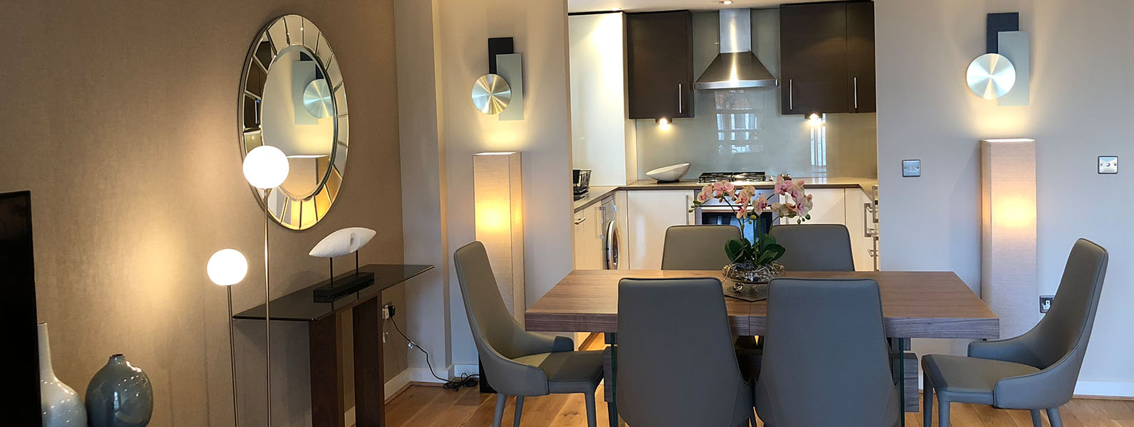 Dining room interior design and styling details by Moji Salehi at Moji Interiors in Hove.