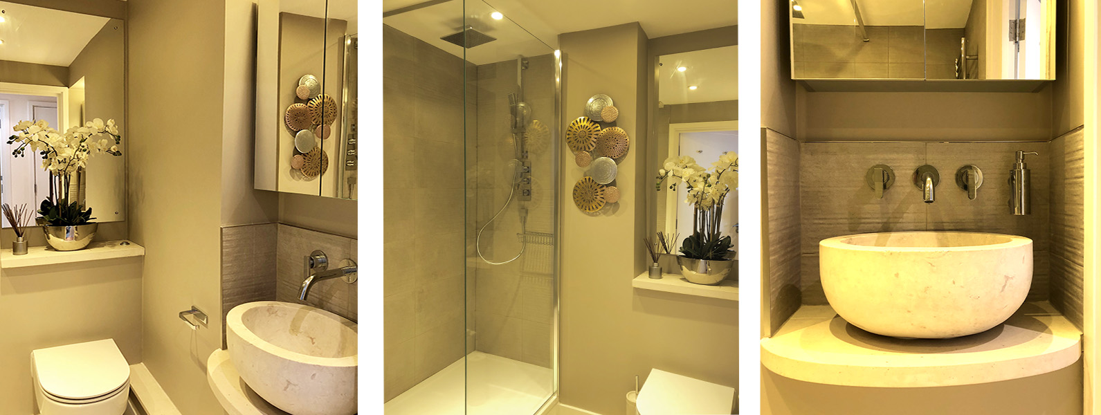 Guest bathroom interior design and styling details by Moji Salehi at Moji Interiors in Hove.
