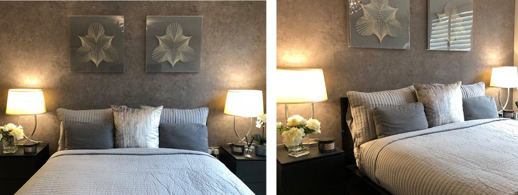 MasterMaster bedroom interior design and styling details by Moji Salehi at Moji Interiors in Hove.