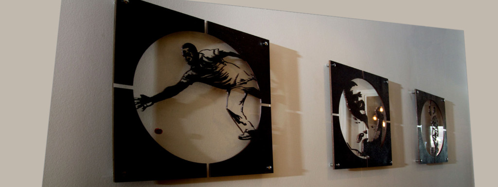 Custom wallart by Moji Salehi at Moji Interiors. Chris Jordan/ Sussex cricketer.