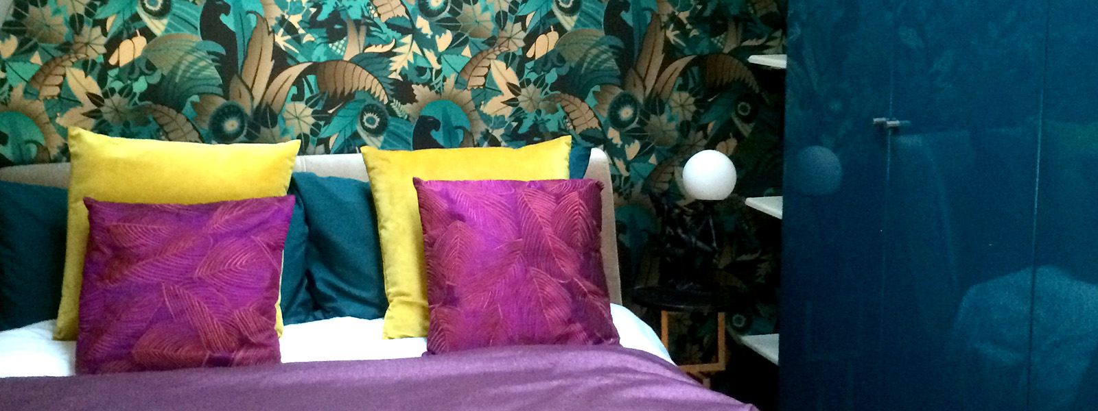 Guest bedroom interior design and styling details by Moji Salehi at Moji Interiors in Hove.