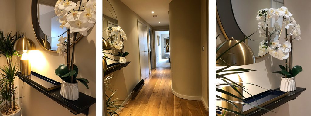 Hallway interior design and styling details by Moji Salehi at Moji Interiors in Hove.