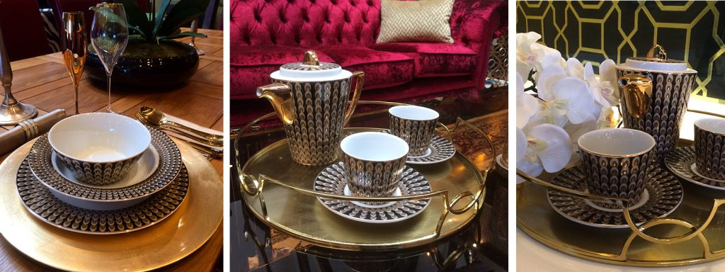 Table setting details, Interior design/styling services by Moji Salehi at Moji Interiors in Hove
